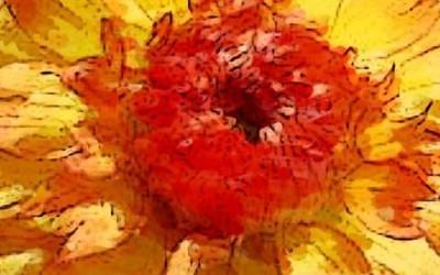 """Die gelbe Dahlie """"Lebe hier und jetzt"""""""