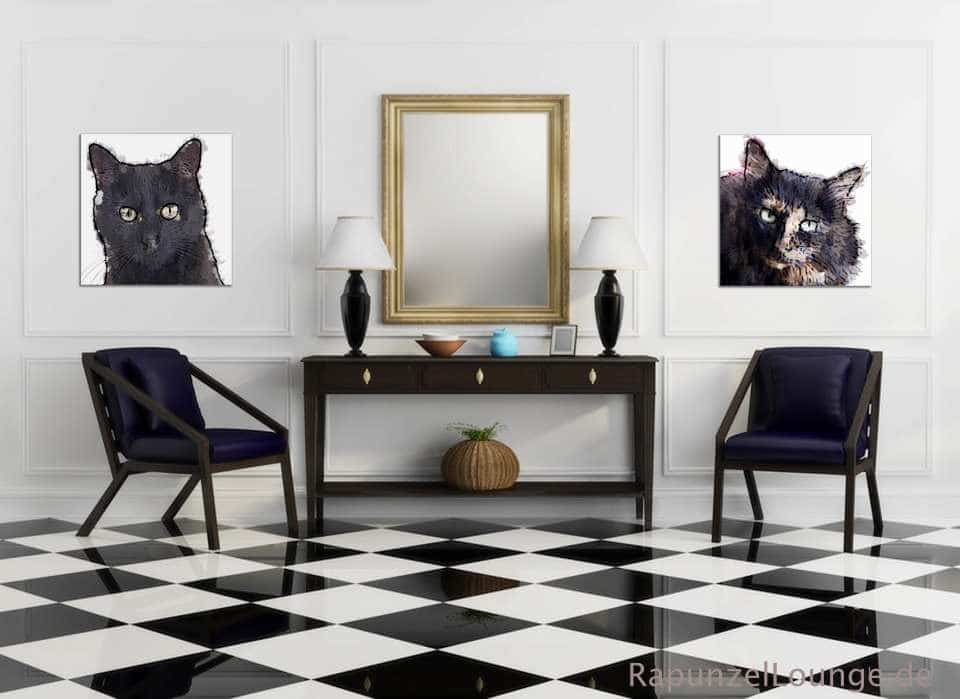 Krafttier Katze Wandbilder bei Rapunzel-Lounge
