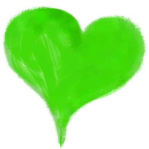 Grünes Herz - Farben Bedeutung Farbe Grün