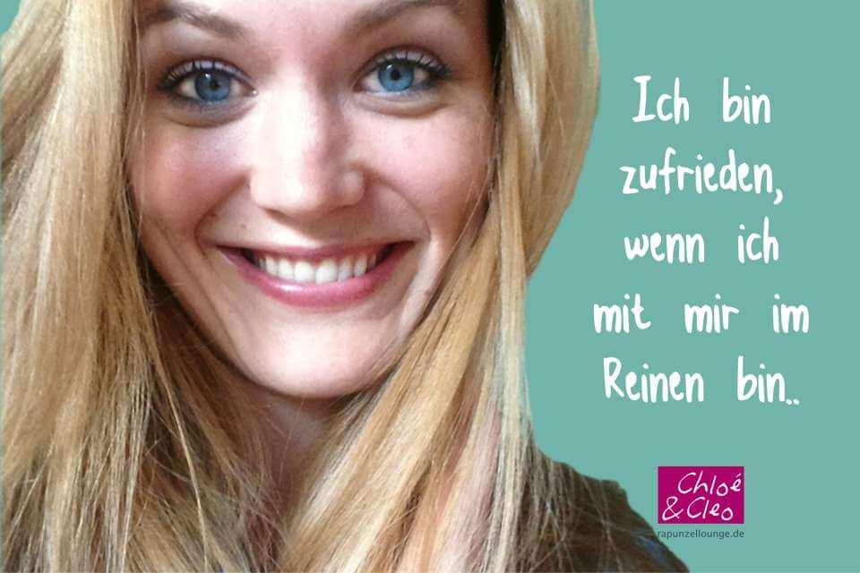 Frauen Sprüche Chloe: Ich bin zufrieden