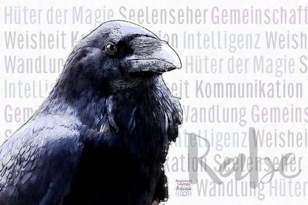Krafttier RABE Eigenschaften bei www.rapunzellounge.de