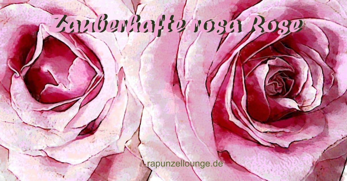 Kraftblüten rosa Rosen | Du bist innen und außen
