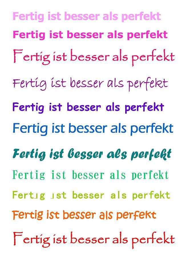 Fertig ist besser als perfekt - rapunzellounge.de