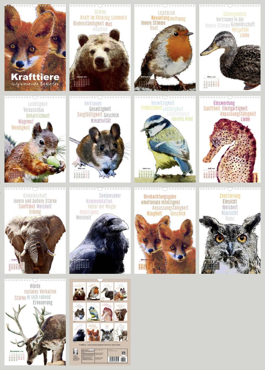 Kalenderbilder Krafttiere Inspirierende Begleiter 2020